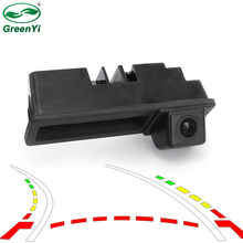 Dynamic Trajectory Parking Line Car Reverse Backup Rear View Trunk Handle Camera For Audi A3 A4 A6L S5 Q7(China)