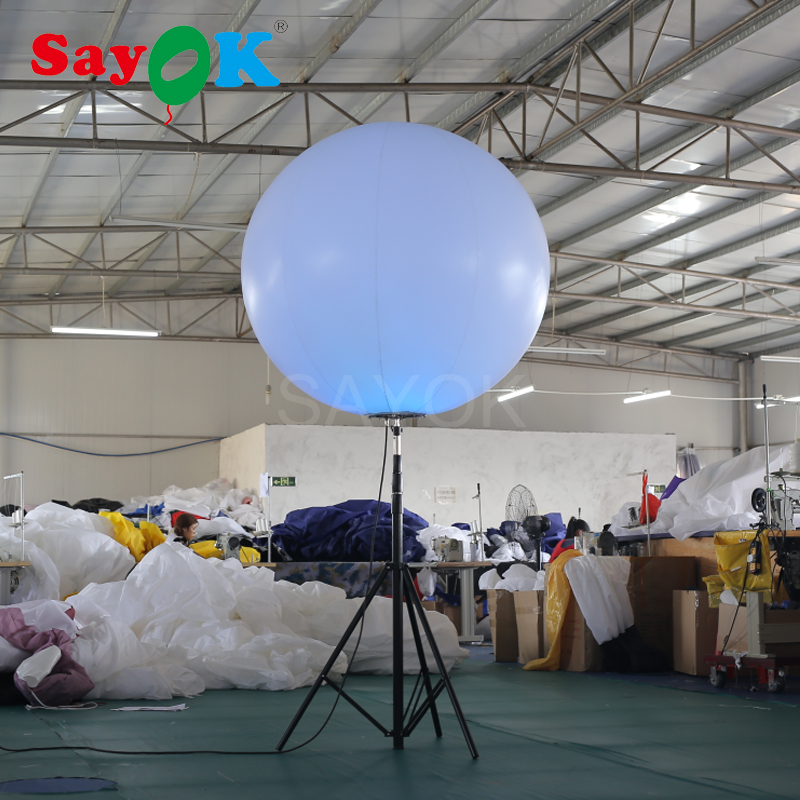 Hot Sale Inflatable Stand Tripod Balloon with Halogen Light or RGB Light for Event AdvertisingHot Sale Inflatable Stand Tripod Balloon with Halogen Light or RGB Light for Event Advertising