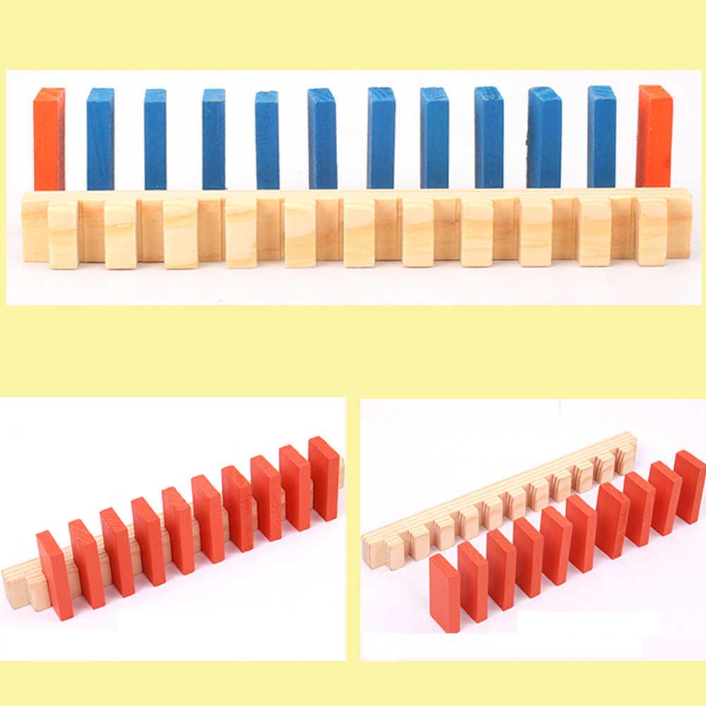 120/240pcs Domino zabawki drewniane zabawki dla dzieci kolorowe klocki Domino zestawy wczesna nauka Domino gry edukacyjne zabawki dla dzieci