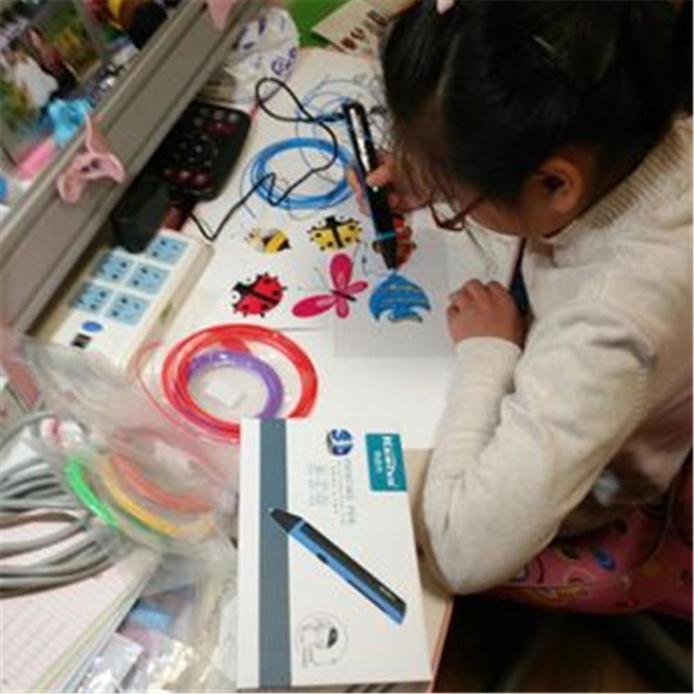 3D Printing Pen Lage Temperatuur + 20 m Kleurrijke ABS Filament Smart 3d gedrukt pen Beste Cadeau voor Kid