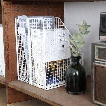 Nordique Simple Fer Table étagère De Rangement Maille Bureau Fichier Livre Boîte De Rangement Bureau Bibliothèque étagère Fichier Magazines Boîte De Rangement