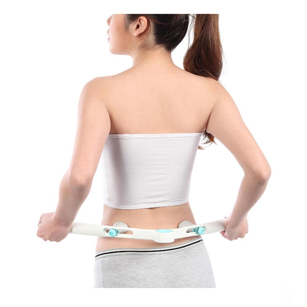 2016 HOT NEW Adjustable Lumbar Massage Device Back Waist Spine Massager Beauty Slimmer Body Stick Tool