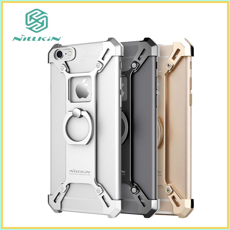 Цена за Для iphone 6 s Случае Nillkin iphone 6 6 s плюс Крышка барде Металлический Корпус С Кольцом Телефон Коке Fundas Capa Carcasa Стенд бампер