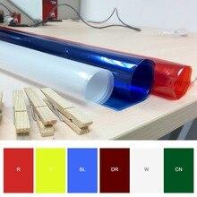 Профессиональный 40*50 см 15.75in* 19.69in бумажные гели цветной фильтр для сцены светильник ing Рыжий светильник