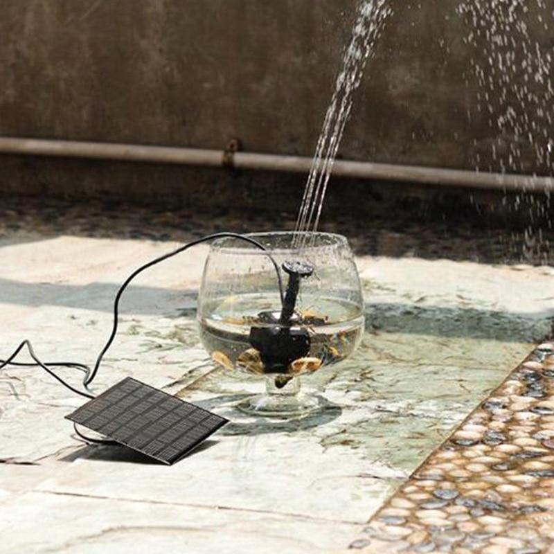 7V 180L/H Brushless DC Solar Power Fountain Water Pump Spray Panel Kit For Pool Home Garden Decor Fish Pond Watering Pumb цены онлайн