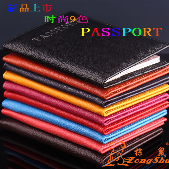 PU passport holder ID credit card ticket travel passport cover protective Trendy Passport Case 2