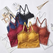 Seamless Padded Women Bras Summer Ladies Lace Tube Top Sling Beauty Back Wrapped Chest