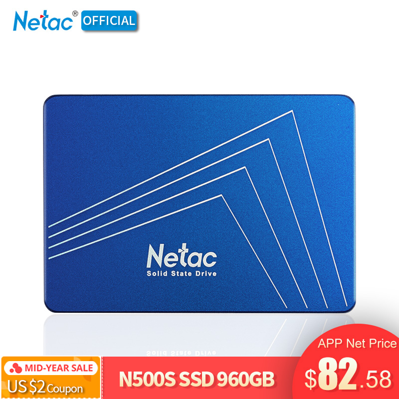 Original Netac N500S 960GB SSD Hard Drive 2.5 Inch SATA III Internal Solid State Disk(China)