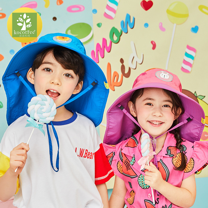 Kocotree Wide Brim Children Sun Hat  Kids Bucket Cap Summer Beach Girls Travel Outdoor New Fashion Cute Casual Sun Hats