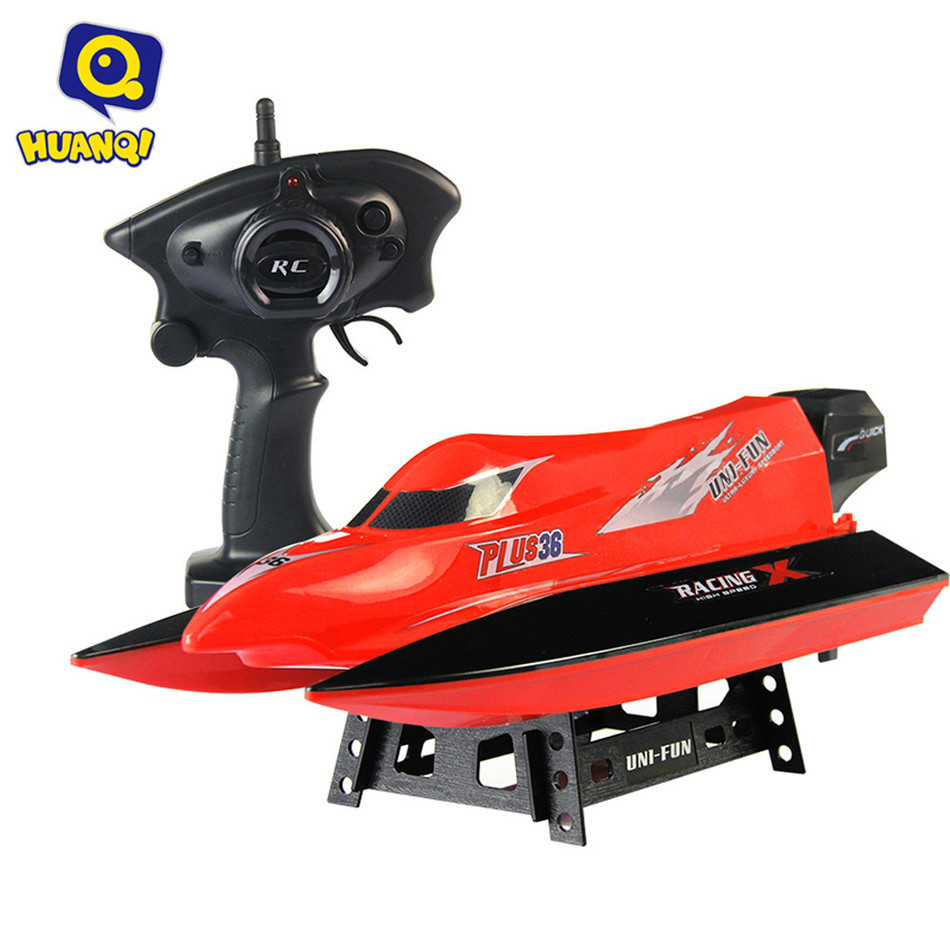 HUANQI 959 High Speed RC Boat 2.4G 4CH Novel Appearance 20KM/H Steering Sensitivity Water Cooling System Toy Christmas Gift aluminum water cool flange fits 26 29cc qj zenoah rcmk cy gas engine for rc boat