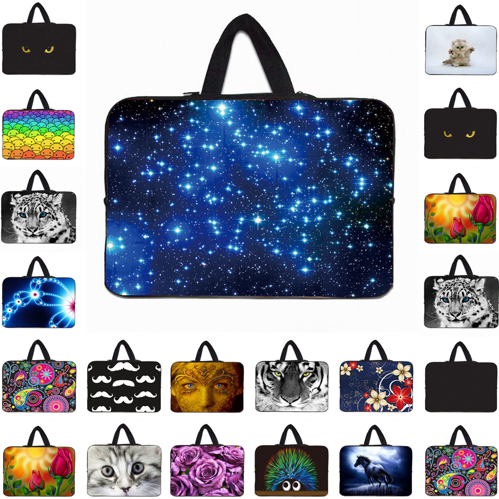 <font><b>Funda</b></font> <font><b>Portatil</b></font> <font><b>15.6</b></font> Bolsas Neoprene 13 14 15 17 13.3 inch Laptop Carry Handle Bag Case For Macbook Pro 13 15 17 Wholesale 2019 image