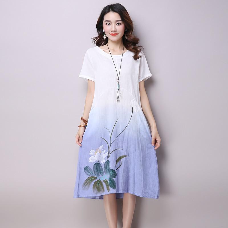 2017 New Summer Style Fashion Leisure Dress Retro Sweet ...