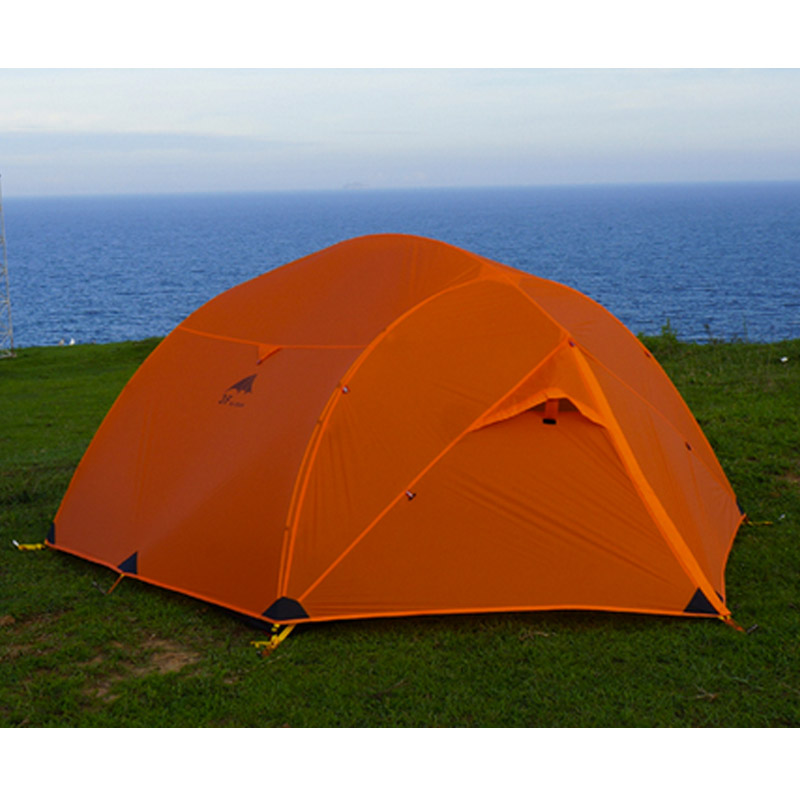 3F UL Gear Qinkong 210T PU Coating 3-person 4-Seasons  Camping Tent with Matching Ground Sheet starbaits kosy ground sheet
