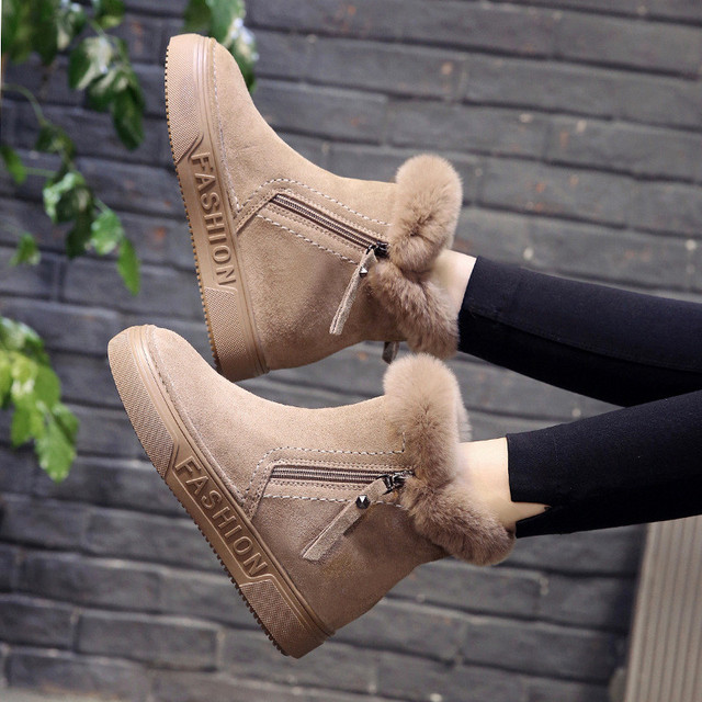 Hung Yau Autumn Women Zipper Ankle Boots Round Toe Solid