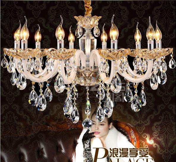 6 / 8 / 10 Lustres LED Crystal Chandeliers Lampadario Luxury Chandelier lights Lustres Living room diningroom light
