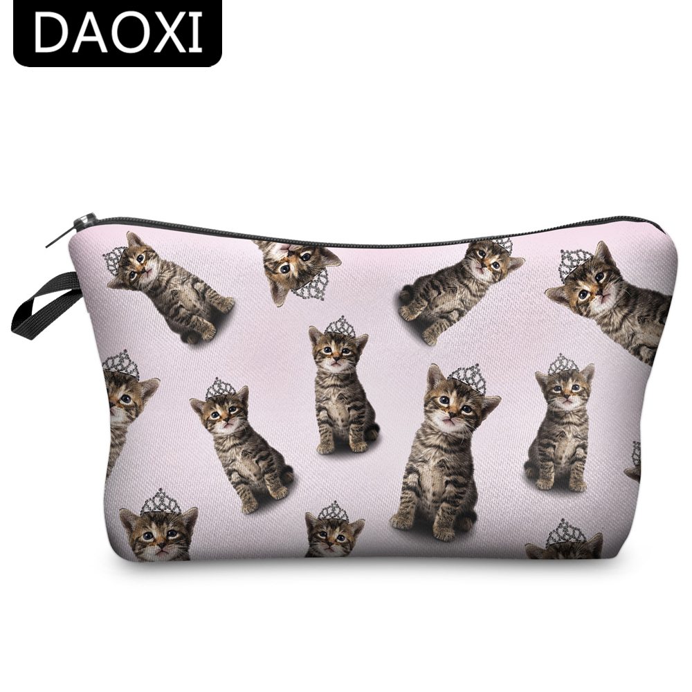 DAOXI Women Travel Makeup Bag Pouch Cosmetic Purse Cute Beauty Case