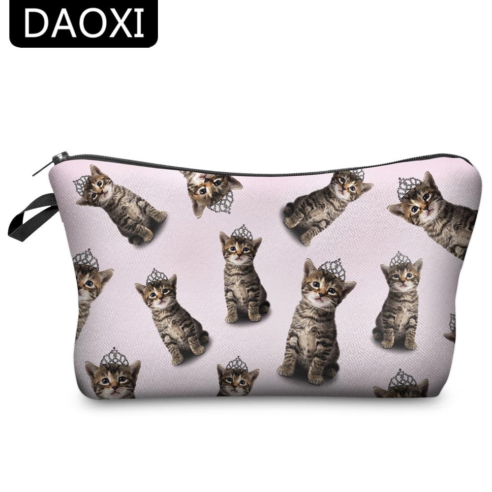 DAOXI Women Travel Makeup Bag Pouch Cosmetic Purse Cute Beauty Case