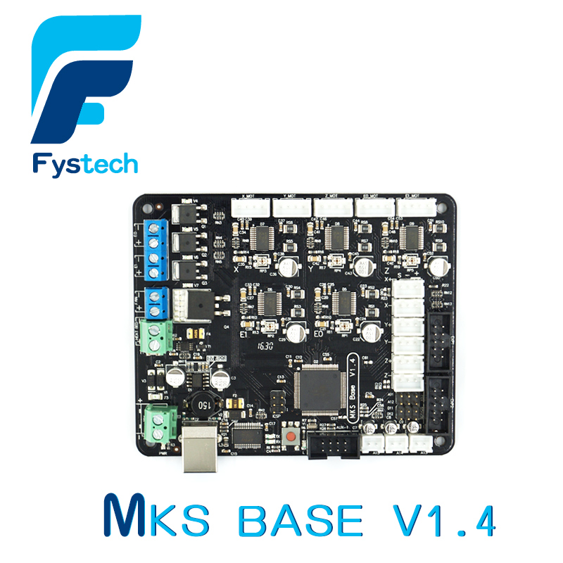 3D Printer Parts MKS Base V1.4 3D Printer Control Board With USB Mega 2560 R3 Motherboard RepRap Ramps1.4 Compatible flsun 3d printer big pulley kossel 3d printer with one roll filament sd card fast shipping