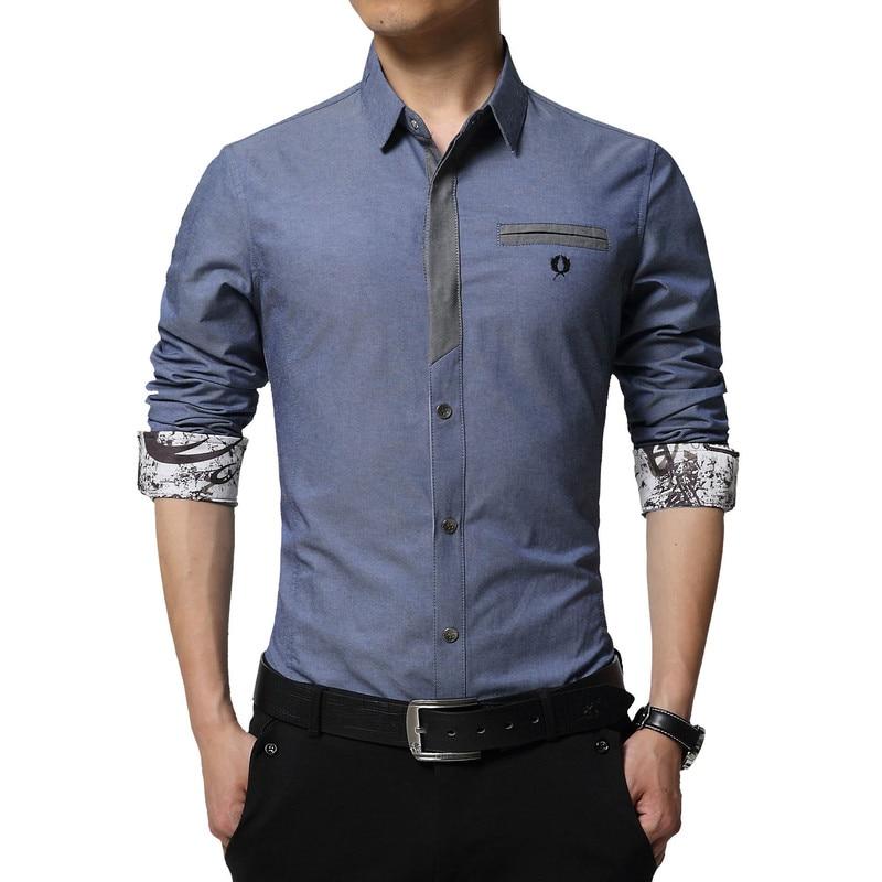 Floral Print Striped Dress Men Shirt Uniform Mens Long Sleeve Slim Fit Top Vintage Cotton Button Down Shirts Camisa Masculina 27