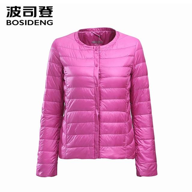 BOSIDENG женская одежда вниз пальто зимнее пальто регулярный куртка ультра легкий твердые О-Образным Вырезом весна пальто на продажу B1501610 B1501612