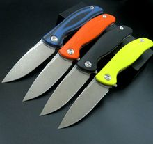 Hot Recommend Stone Washed Knife F3 Camping Folding Knife D2 Blade G10 Handle Pocket Tactical Knife Flipper Outdoor Tools