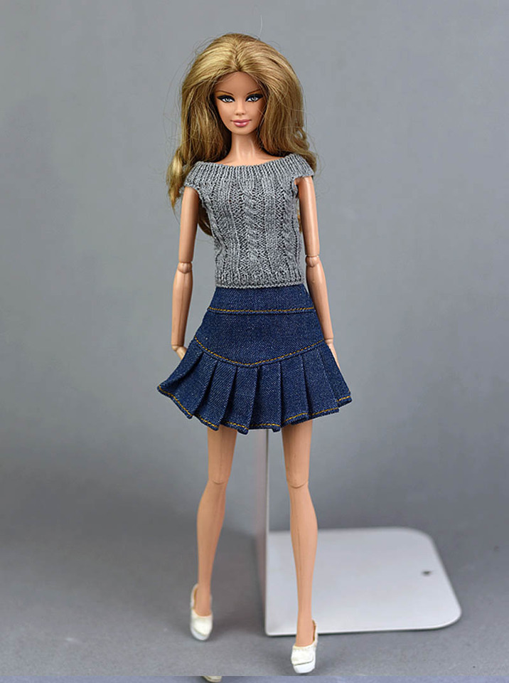 XiZiMi Ropa de Vestir de mu?eca Falda de Vestir Delantal de Vestir de Princesa Accesorios de mu?eca de 29 cm 10 Piece Set