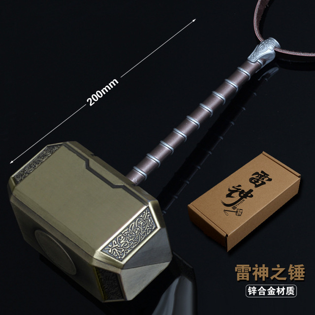 Marvel's The Avengers Thor's Hammer Quake Alloy Weapons  Exclusive Packaging Child Cosplay Weapon model Alloy props gift