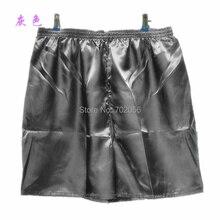 Однотонные мужские шелковые шорты из вискозы, пляжные шорты, боксеры, домашняя одежда, шорты#3801