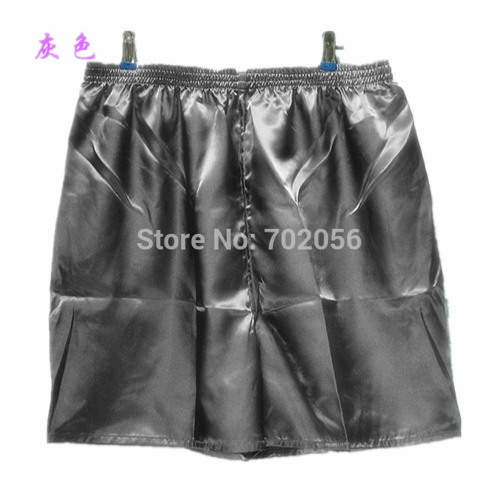 Solid mænds Rayon Silk Shorts strand shorts Boxers Homewear shorts # 3801