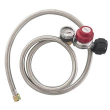 Earth Star 0-30PSI High pressure adjustable propane regulator with braided hose 60inches