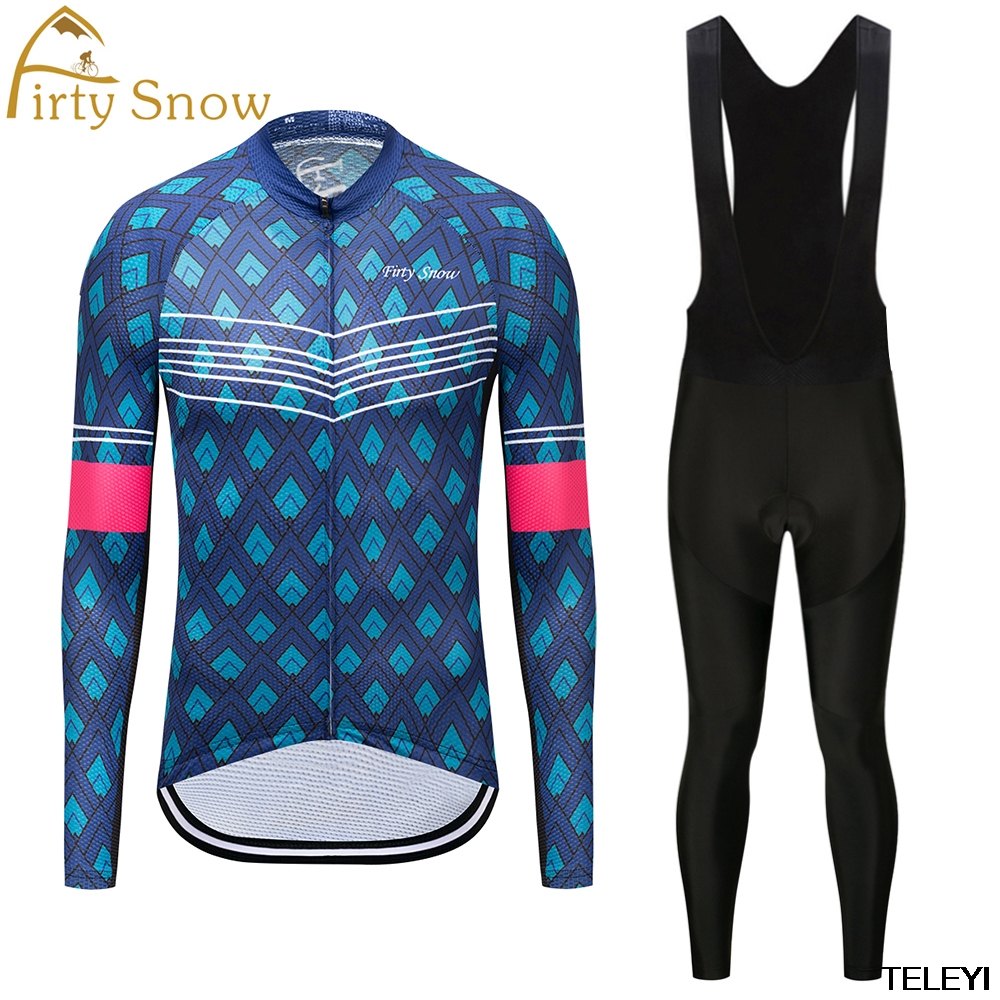 High Quality Long Sleeve Team <font><b>Autumn</b></font> Breathable Tops Cycling Jerseys new Long sleeve Cycling Clothing/Ropa Ciclismo firty snow