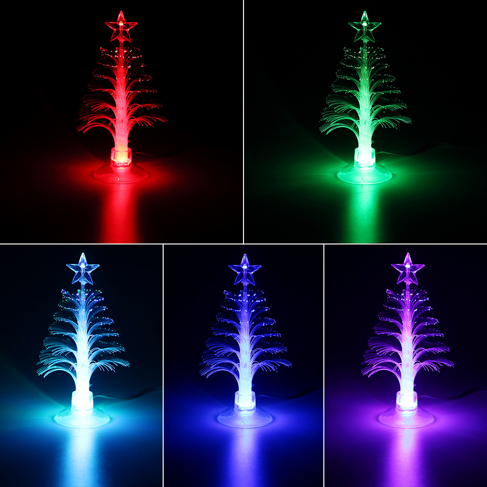 Shining Hot Selling Drop Shipping Christmas Xmas Tree Color Changing LED Light Lamp Home Decoration 2017 Hot Sale