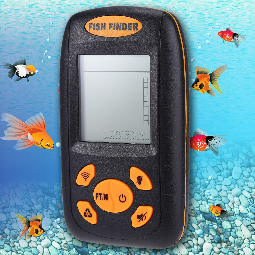 ФОТО 1 Pcs 100M Wireless Fishfinder High Quality XF-01 Wireless Alarm Smart Fish Finder Portable Sonar LCD Depth Sonar Fish Finder