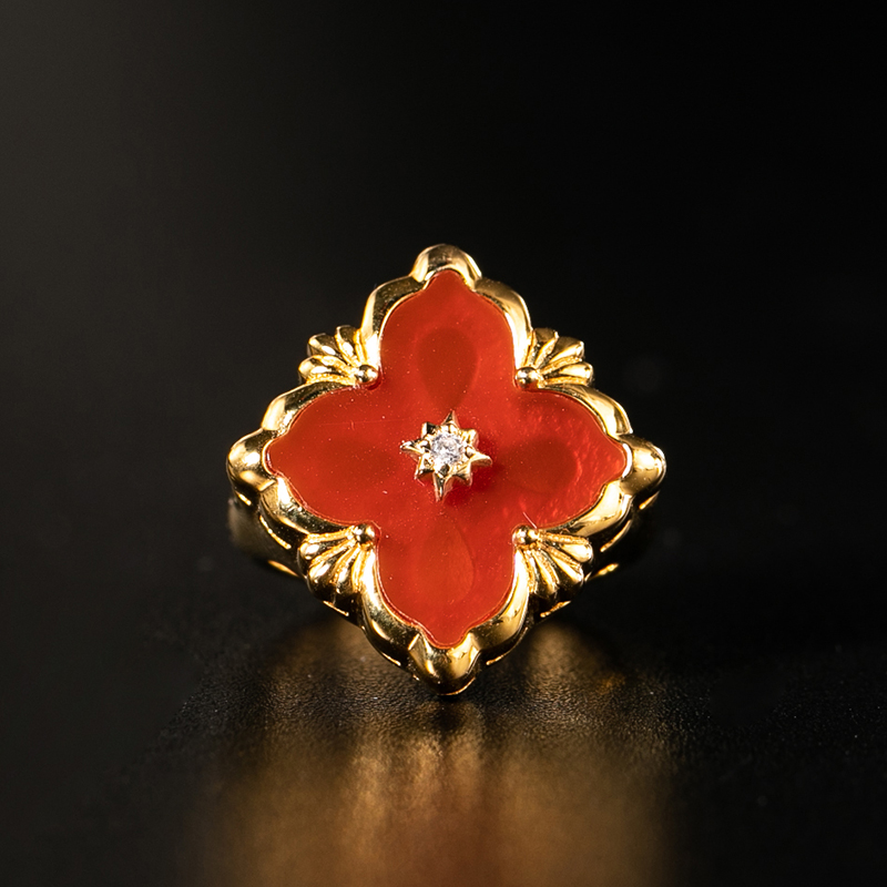 925 argent Zircon anneau argent barre 925 bijoux pour femmes cour européenne style vintage - 2