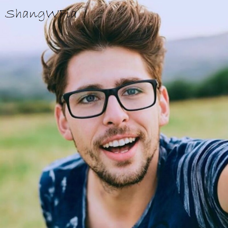 2019 Classic Male Square Eyeglasses Frame Brand Designer Fashion Women Decoration Optical Glasses Clear Glasses