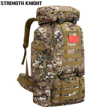 Купить с кэшбэком Men's Travel Bags 70L Large Capacity Nylon Camouflage backpack Portable Luggage Daily Backpack Bolsa Multifunction luggage bag