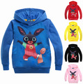 2017 kids rabbit boys winter hoodies and sweatshirts GB british Bing Bunny cartoon clothes girl hoodies clothing child 2-8Years