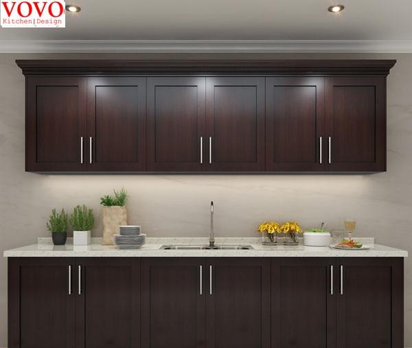 Solid Wood Kitchen Walnut Cabinets: Walnut Wooden Kitchen Cabinet-in Kitchen Cabinets From