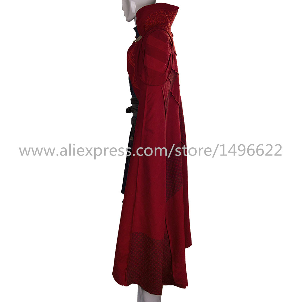 Doctor Strange Costume Kids and Adult Cosplay Steve Red Cloak Costume Robe Halloween Costume Party (5)