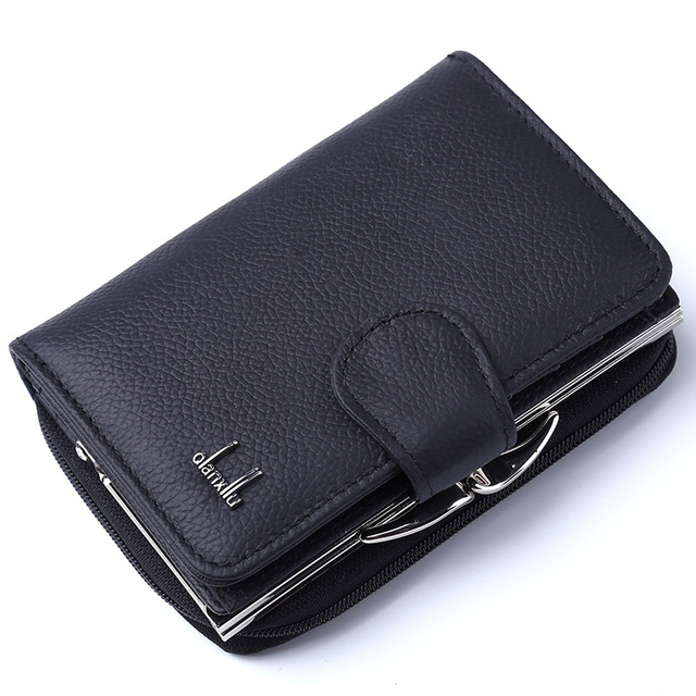 Long Section Leather Wallet for Ladies