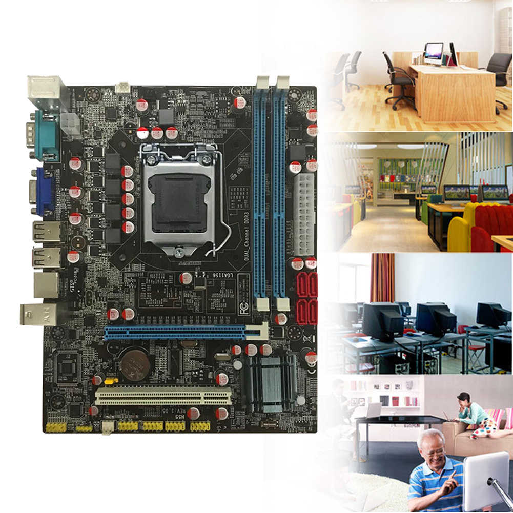Tahan Lama Kompatibilitas Tinggi Rumah Terintegrasi Port USB Dual Channel Kapasitas Memori Besar Intel Chipset CPU Komputer Papan Utama