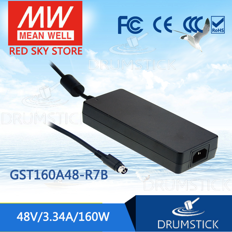 Advantages MEAN WELL GST160A48-R7B 48V 3.34A meanwell GST160A 48V 160W AC-DC High Reliability Industrial Adaptor genuine mean well gst120a12 r7b 12v 8 5a meanwell gst120a 12v 102w ac dc high reliability industrial adaptor