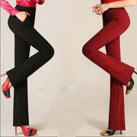 2017 spring and autumn high waist fashion casual plus size Elastic Stretch female women clothes Micro speaker trousers pants