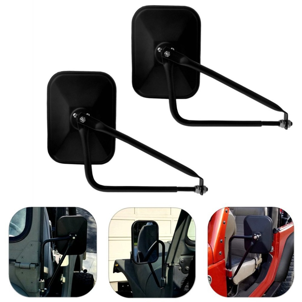 Side View Door Mirrors For Jeep Wrangler JK CJ YJ TJ 07 17