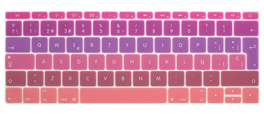Image 5 - Silicone Keyboard Cover for Macbook 12 inch A1534 and New MacBook Pro 13 inch A1708 A1988, Spanish & English European ISO Layout-in Keyboard Covers from Computer & Office