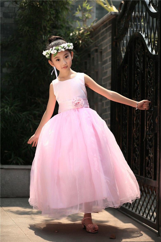 Flower girl dresses For Weddings Sleeveless Elegant Ball Gown Style ...