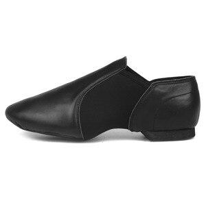 Image 2 - Jazz Shoes Soft Black Genuine Leather Kids Dancing Shoes Unisex Jazz Dance Shoes Slip on Men Women Children Jazz Shoes