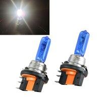 1 пара галогенные H15 лампы 12 В 15/55 Вт лампы дневного и высокое лучи Super White галогенные фары лампа