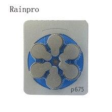 Rainpro 60PCS/LOT(PACK)  zinc air  P675 A675 675 PR44 button battery for Hearing aid best quality