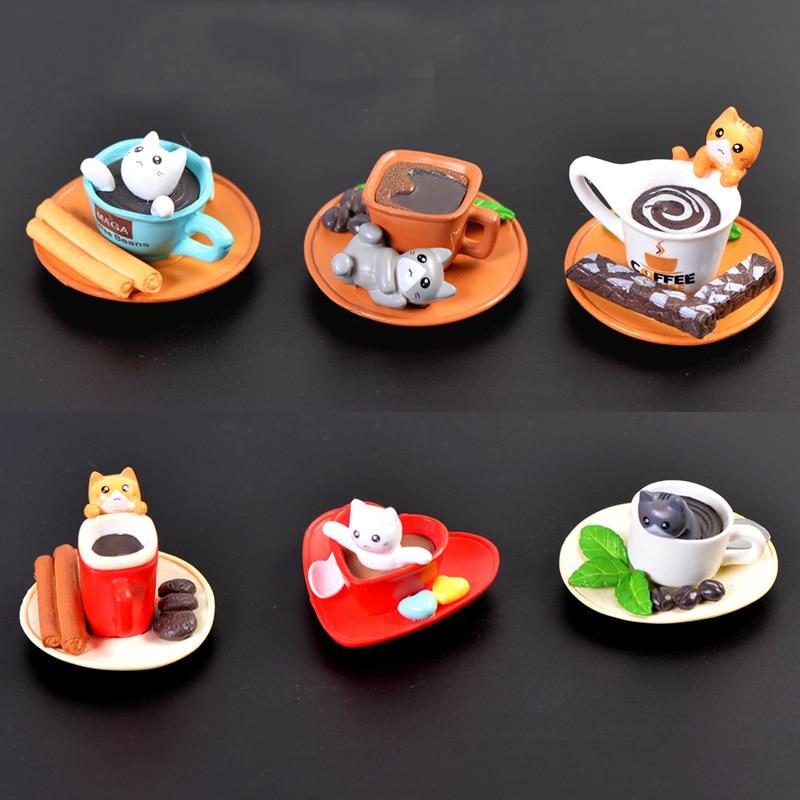 Mini Cute Cat Figurine Animal Model Home Decor Miniature Fairy Garden Decoration Accessories Modern Bonsai PVC Ornament